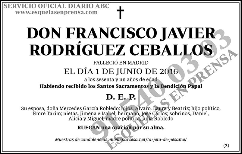 Francisco Javier Rodríguez Ceballos
